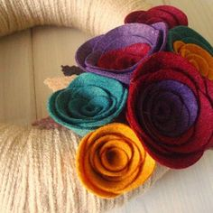 Wool wreath by Daniellerosemakes