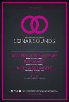 Free Flyer Template: Sonar Sound Vol.2 Minimal PSD Flyer Template