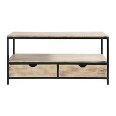 solid wood and metal industrial tv unit in black w 117cm meuble tv long tv