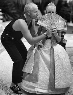 Gianni Versace and niece Allegra.
