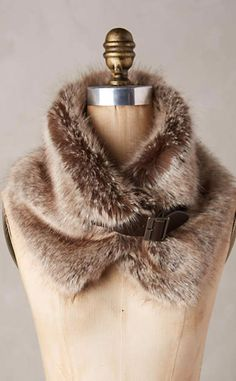 Turia Faux-Fur Collar #anthroregistry