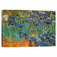 Add gallery-worthy appeal to your walls with this canvas print of Vincent van Gogh's Irises.   Product: Canvas printConstruction Material: Pine wood and cotton canvasFeatures:  Printed with fade-resistant archival inksGallery-wrapped