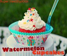 Watermelon Cupcakes | 21 Blissfully Easy Desserts You Can Make With Your Kids