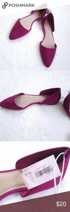 Old Navy Fuscia Sueded D'orsay Flat Old Navy Fuacia Sueded D'orsay Flat. NWT Old Navy Shoes Flats & Loafers