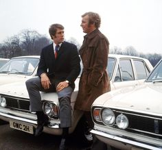 West Ham United and England teammates Geoff Hurst and Bobby Moore admire the ranks of Ford Cortinas in this 1970 picture England National Football Team, England Football, National Football Teams, Bobby Moore, Football Images, Football Pictures, Geoff Hurst, 1966 World Cup, Cars