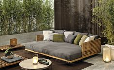 [New] The 10 Best Home Decor Ideas Today (with Pictures) - QUADRADO outdoor double daybed sports minimal shapes and a reclining backrest recalling the classic Teak duckboard. Design by Outdoor Living Rooms, Living Room Modern, Outdoor Spaces, Living Spaces, Outdoor Daybed, Diy Outdoor Furniture, Outdoor Decor, Modern Garden Furniture, Outdoor Sofas