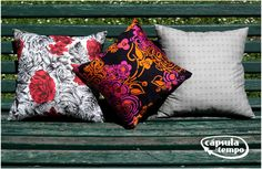 Cool looking pillows using vintage fabrics. Thinking green an looking good: I like it! :)