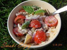 Smaki Edyty: Sałatka makaronowa z bazylią