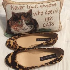 ✨HP✨Steven Leopard Calf Hair Ballet Flats Bought them without realizing they are [two different patterns]. Still super cute and in perfect condition! Gold heels. Steven by Steve Madden Shoes Flats & Loafers