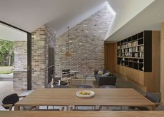 Let there be light: Skylight House Brick Interior, Interior Walls, Residential Architecture, Architecture Design, Be Light, Light Well, Plywood Design, Brick Cladding, Light Brick