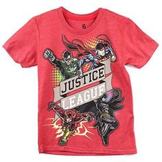 Kids Republic Boys Justice League TShirt >>> You can find more details by visiting the image link.Note:It is affiliate link to Amazon.