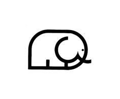 Cute elephant logo design.