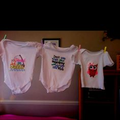 Onesies we made for Ava Grace