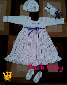 Baptism crocheted outfit