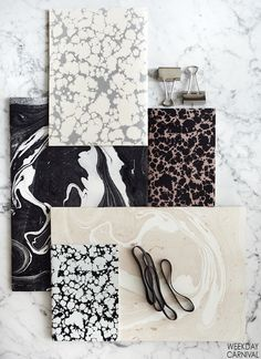 WEEKDAYCARNIVAL : NOTEBOOKS by Selma Lamai Marble Pattern, Color Patterns, Textures Patterns, Print Patterns, Brand Packaging, Packaging Design, Packaging Ideas, Krystal, Print Design
