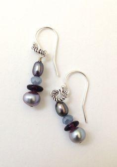 Beaded Earrings Handmade Earrings Sterling by SRyanJewelryDesigns