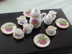 miniature tea set 1:12 scale, made in China.