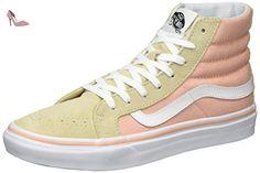 Vans Sk8-Hi Reissue, Sneakers Hautes Mixte Adulte, Multicolore (Checkerboard/Spruce Yellow/Navy), 44 EU (9.5 UK)