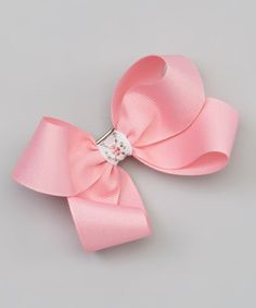 This The Bow Band Soft Pink Bow Barrette Clip by The Bow Band is perfect! #zulilyfinds