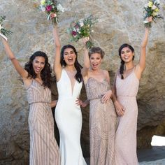 Pink and blush #bridesmaid dresses available at #kleinfeld and online at www.kleinfeldbridalparty.com 💖   @Kleinfeldbridalparty  #Regram via @kleinfeldbridal Bridal Party Dresses, Cheap Bridesmaid Dresses, Bridal Gowns, Wedding Gowns, Bridesmaids, Dream Wedding, Wedding Things, Summer Wedding, Wedding Stuff