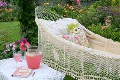 💋Keep smiling in your hammock w/ Lip Savy Alli. Find me on facebook: lipsavyalli Summer Garden, Home And Garden, Garden Gates, Patios, Tablescapes, House Gardens, Cottage Gardens, Hammocks, Outdoor Living