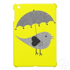 Cute Lovebird with Umbrella i Pad Mini Cases