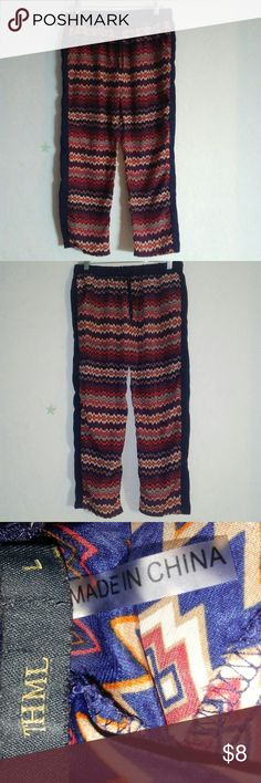 "THML boho print pant THML from stitch fix size L Length 34"" Inseam 23"" Waist 32"" Sleep pant Worn in good condition THML Pants"