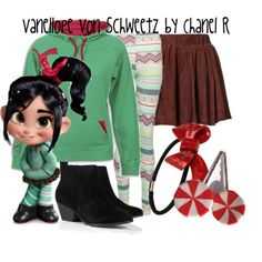 venelop costume | fashion look from November 2012 featuring Puma hoodies, Ganni skirts ...