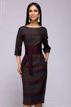 Платье длины миди 1001DRESS