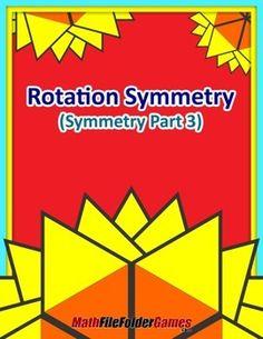 Rotation Symmetry (Symmetry Part 4) {Geometry Activity}  https://www.teacherspayteachers.com/Product/Rotation-Symmetry-Symmetry-Part-4-Geometry-Activity-1719194