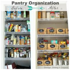 Always looking for great ideas like these to help me organize my pantry!