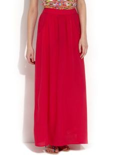 Tall Exclusive Pink Voile Maxi Skirt