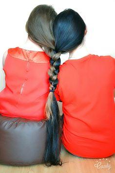 #longhair #polishgirl #sisters #brunette #blonde #hair