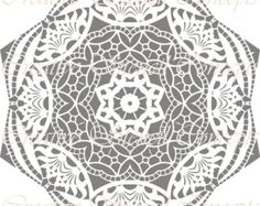 Traditional Mandala Decorative Stencil - this would be great for stamping concrete, definitely a walkway of sorts Paper Cutting Templates, Cake Stencil, Stamped Concrete, Circular Pattern, Stencil Patterns, Decorative Plates, Doodles, Traditional, Etsy