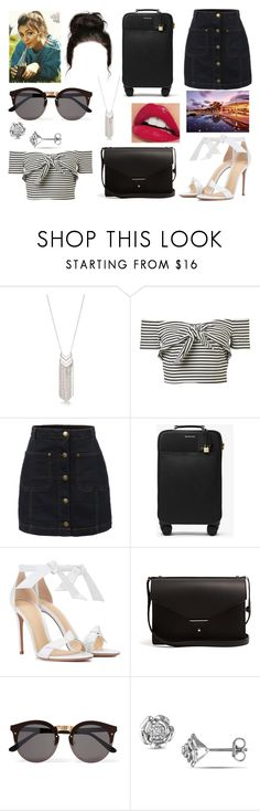 """""""#599"""" by glitterunicorns-are-awesome ❤ liked on Polyvore featuring New Directions, LE3NO, MICHAEL Michael Kors, Alexandre Birman, PB 0110 and Illesteva"""