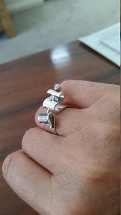 Ribbon and Pin Ring by LeahLowney on Etsy Dressmaking, Silver Rings, Ribbon, Artsy, Band, Sterling Silver, Crafts, Jewelry, Sew Dress