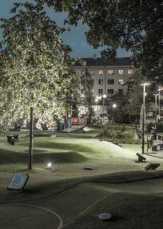 Kristinebergs slottspark | Park - BEGA post and spotlight | ateljé Lyktan