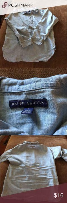 Ralph Lauren Denim Shirt, size 8 Ladies Denim Shirt Polo By Ralph Lauren Tops Blouses