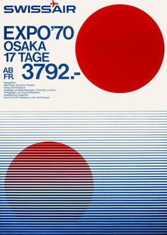 SWISSAIR POSTER 1970 EXPO'70