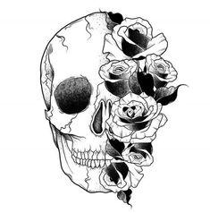 ThisnThat: Photo Skull Tattoos, Body Art Tattoos, Sleeve Tattoos, Tatoos, Future Tattoos, Tattoos For Guys, Tattoo Drawings, Art Drawings, Schrift Design