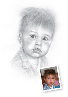 """Pencil Drawings of Boys - Archie.  """"You are very talented!!! Great portrait.""""   LS, New Zealand"""