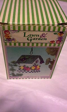 Adorable Tiny Bird House Perfect For Patio/sun Room Decoration-Floral Look (New)