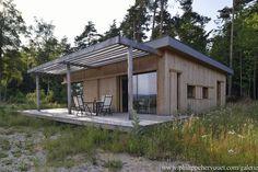 Résidence secondaire en ossature bois d'architecture bioclimatique à près de 900 m d'altitude - Haute-Loire, France - ATELIER 3A ARCHITECTES