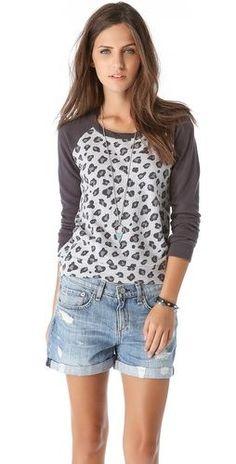 leopard long sleeve sweatshirt / splendid