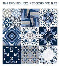 Tegelstickers - Muurstickers voor Tegels Blauwe Degenen - Een uniek product van…