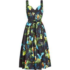 Marc Jacobs Tropical Print Midi Dress