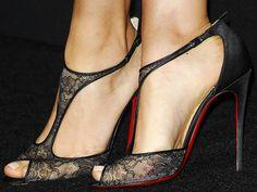 Mila Kunis wearing Christian Louboutin Tiny sandals