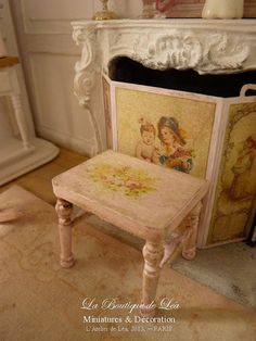 Hey, I found this really awesome Etsy listing at http://www.etsy.com/listing/151047332/stool-shabby-chic-romantic-roses