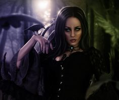 Goddess of Darkness by LucasValencio.deviantart.com on @deviantART