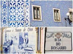 Zelfs de naambordjes zijn van keramiek in PORTUGAL  Caldas da Rainha